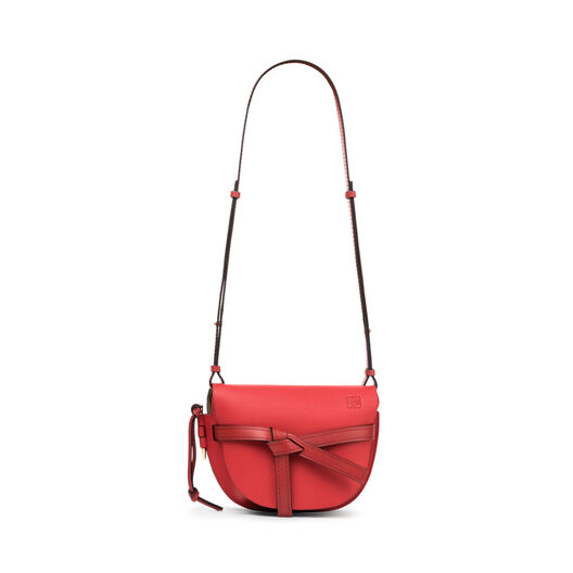 LOEWE ゲートスモールバッグ Scarlet Red/Burnt Red all