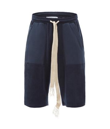 LOEWE Paula Towel Shorts Navy Blue front