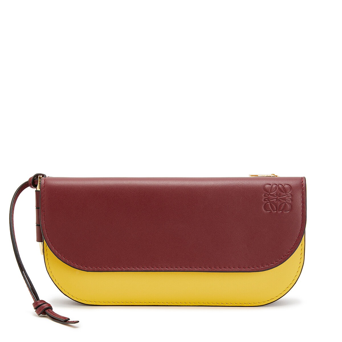 LOEWE Gate Continental Wallet Wine/Yellow front
