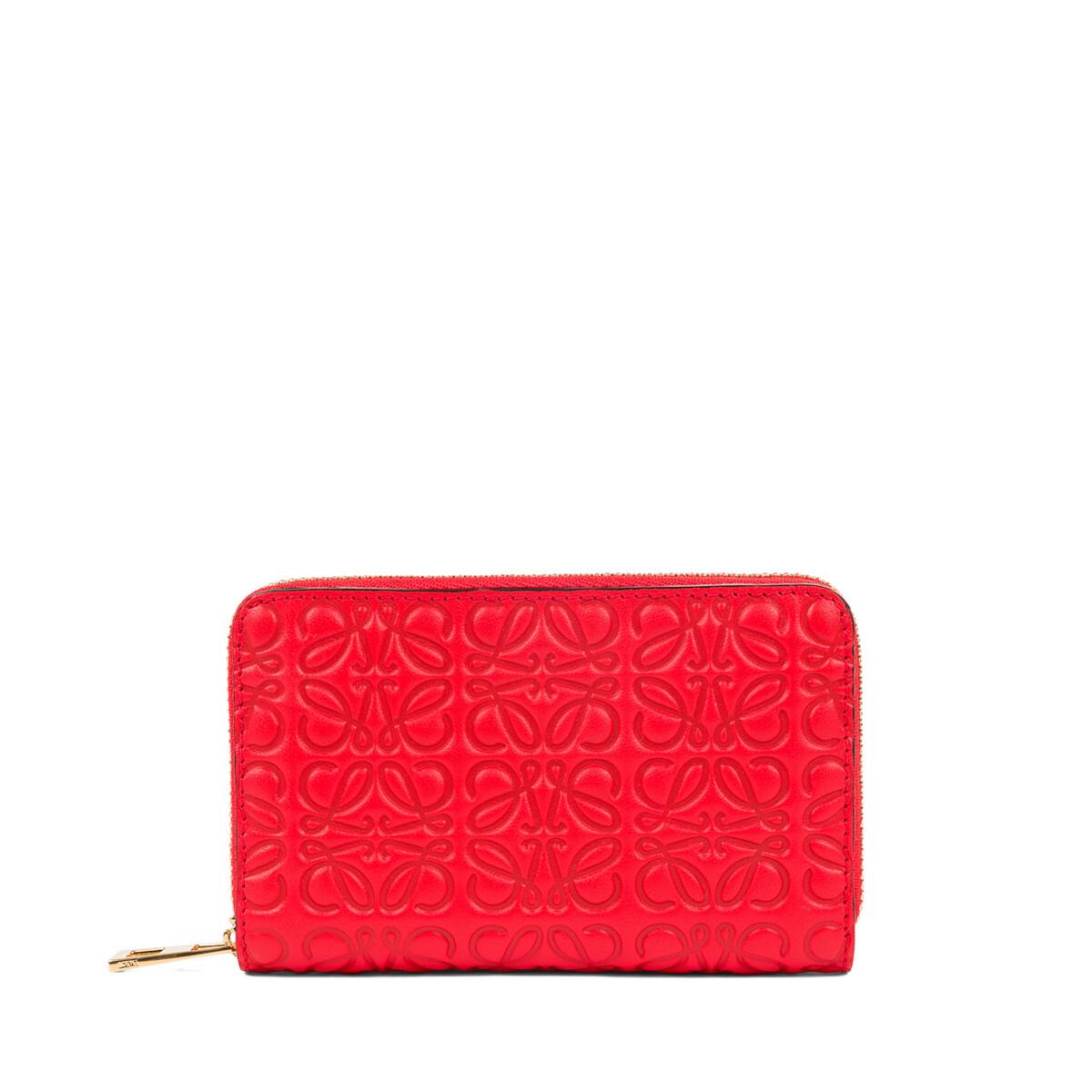 LOEWE Zip Card Holder Primary Red front