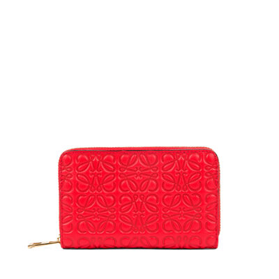 LOEWE Zip Card Holder Primary Red front