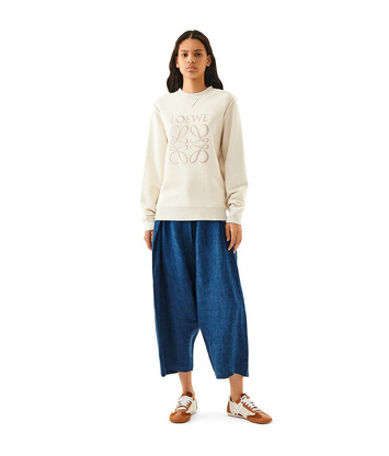 LOEWE Anagram Sweatshirt Ecru/Negro front