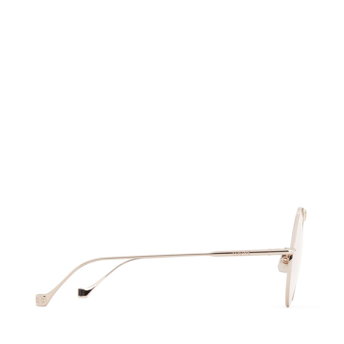 LOEWE Gafas Nudo Metal Redondas Oro Rosa/Rosa Claro front