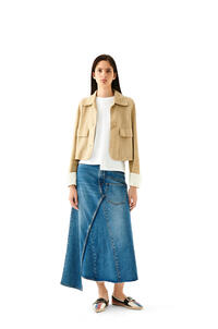 LOEWE Button jacket in suede Gold pdp_rd