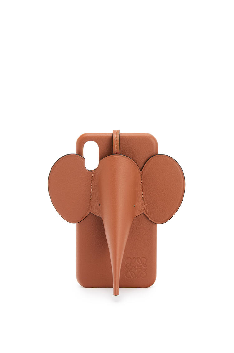 LOEWE Elephant cover for iPhone X/XS in classic calfskin Tan pdp_rd