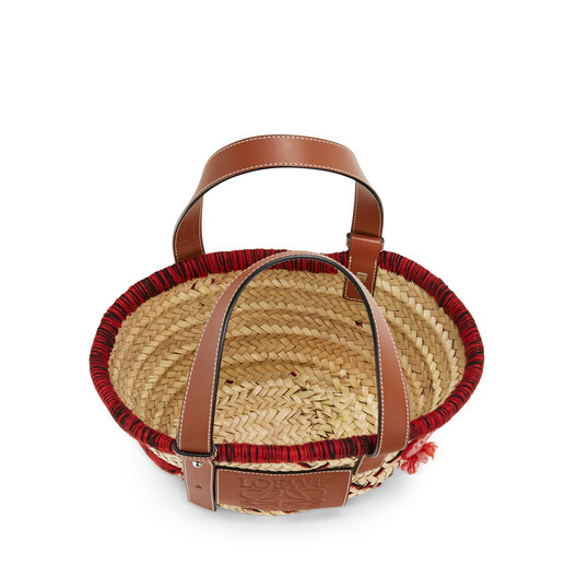 LOEWE Basket Animales Small Red front