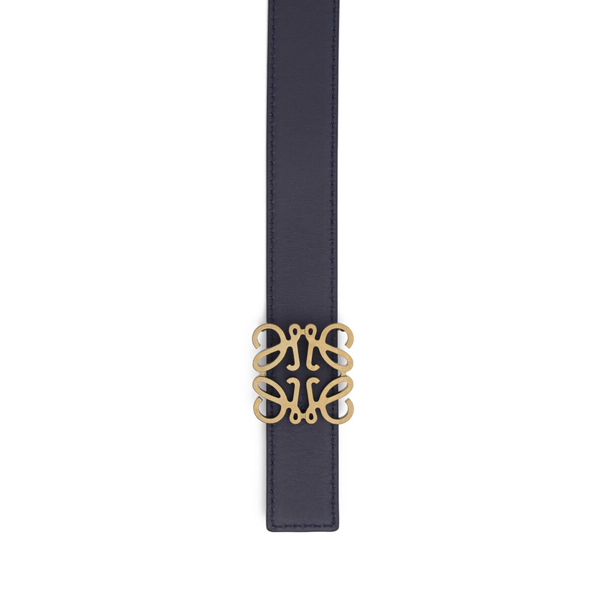 LOEWE Anagram Belt 3.2 Cm Black/Navy/Old Gold all