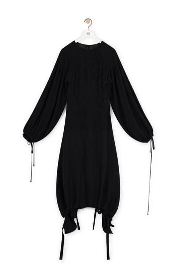 LOEWE Drawstring Balloon Dress Black front