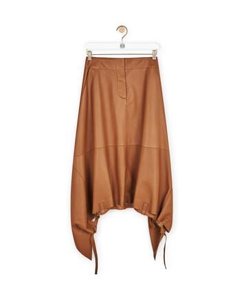 LOEWE Drawstring Skirt Tan front