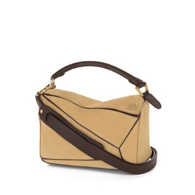 LOEWE Puzzle Small Bag Gold front