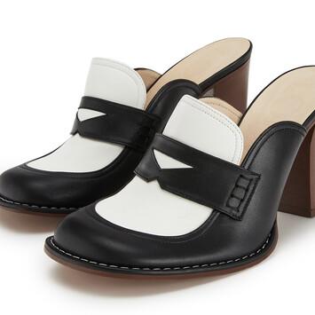 LOEWE Loafer 90 Negro/Blanco front