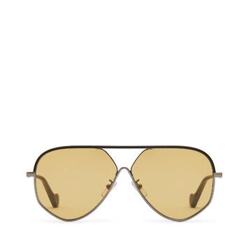 LOEWE Gafas Piloto Piel Negro/Oro/Ambar front
