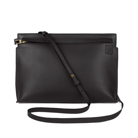 LOEWE T Pouch Bag Stamp 黑色 front