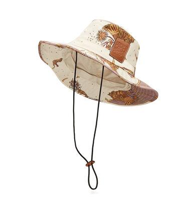 LOEWE Paula Bucket Hat White/Lilac front