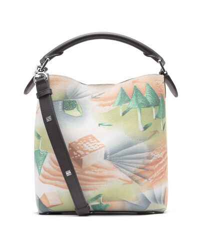 LOEWE T Bucket Forest Small Bag Multicolor/Black front