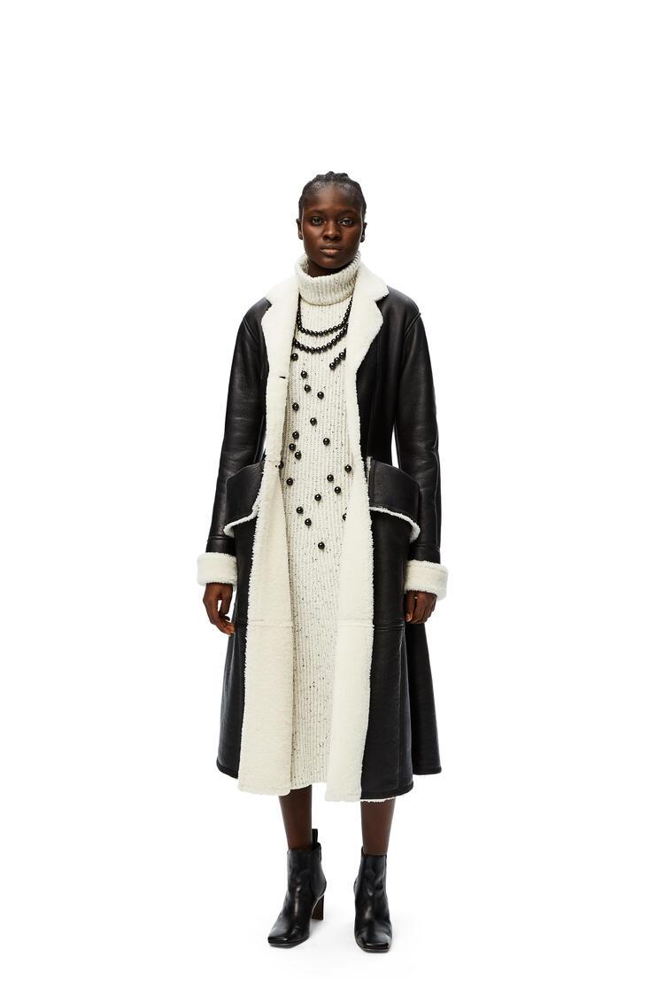 LOEWE Ribbed knit midi dress in wool Off-white pdp_rd