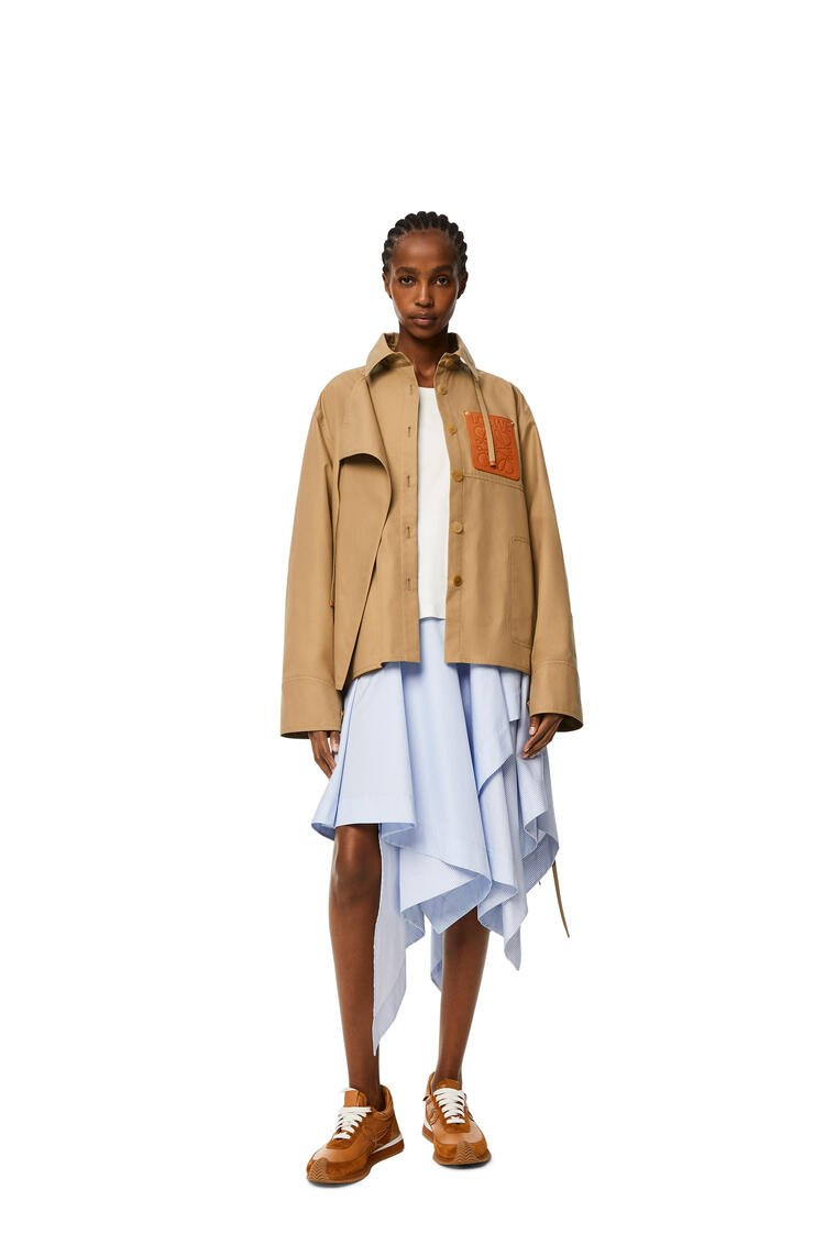 LOEWE Military hooded parka in cotton Sweet Caramel pdp_rd