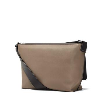 LOEWE Military Messenger Small Bag Dark Grey/Dark Taupe front