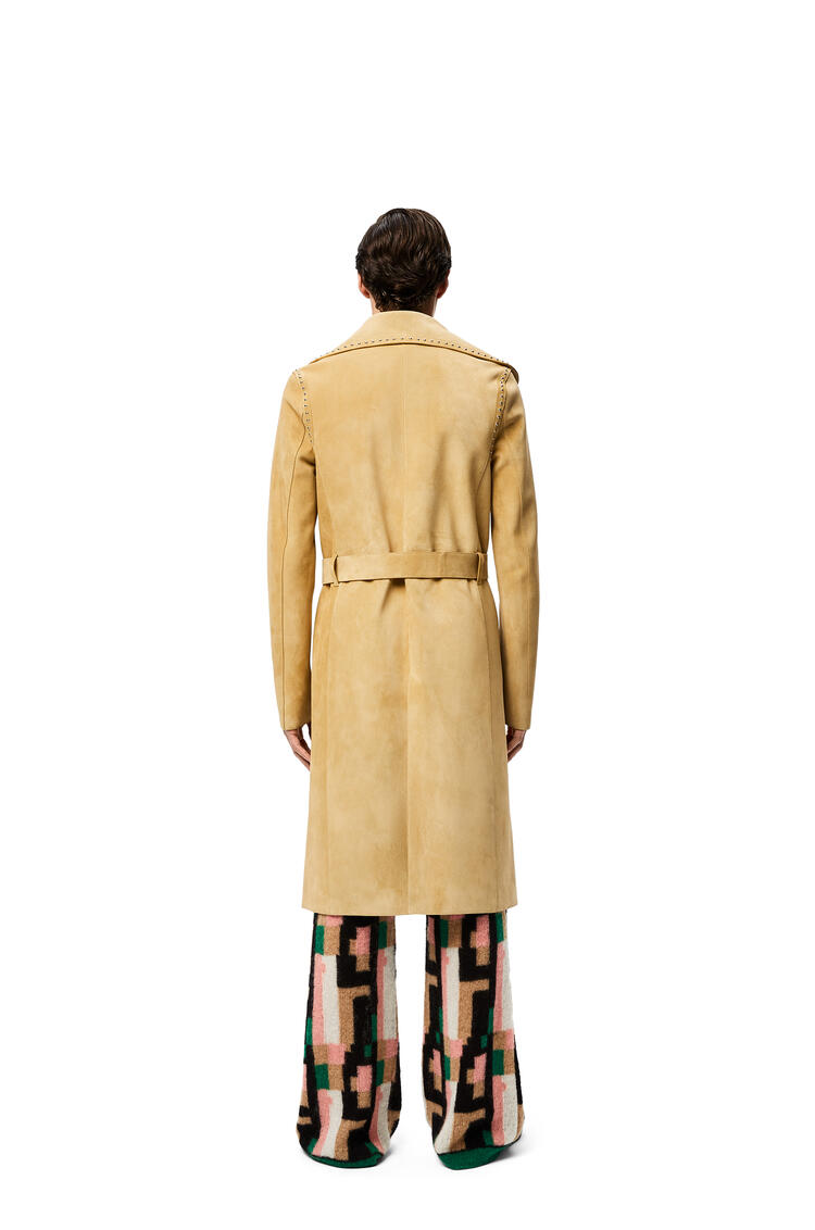 LOEWE Studded coat in suede Gold pdp_rd