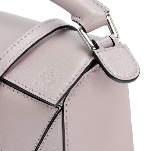 LOEWE Puzzle迷你手袋 Icy Pink front