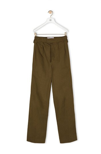 LOEWE Trousers カーキグリーン front