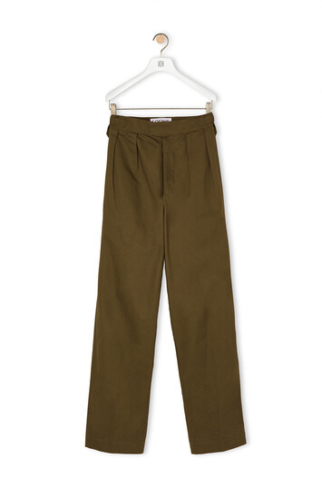 LOEWE Military Trousers Verde Kaki front