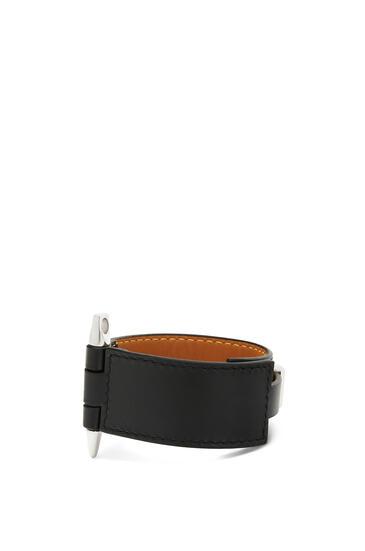 LOEWE Gate Bracelet In Calfskin 黑色 pdp_rd