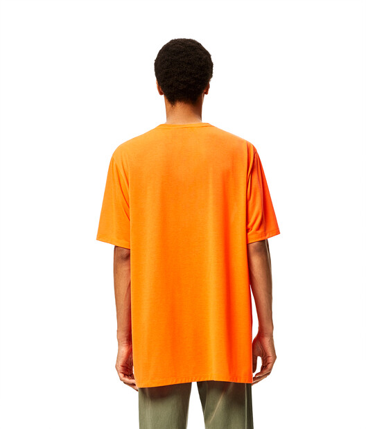 LOEWE Oversize T-Shirt In Waterlily Polyester Fluo Orange front