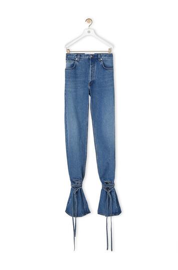 LOEWE Tie Cut Panel Denim Trousers Blue front