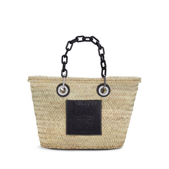 LOEWE Basket Chain Bag Natural/Black front