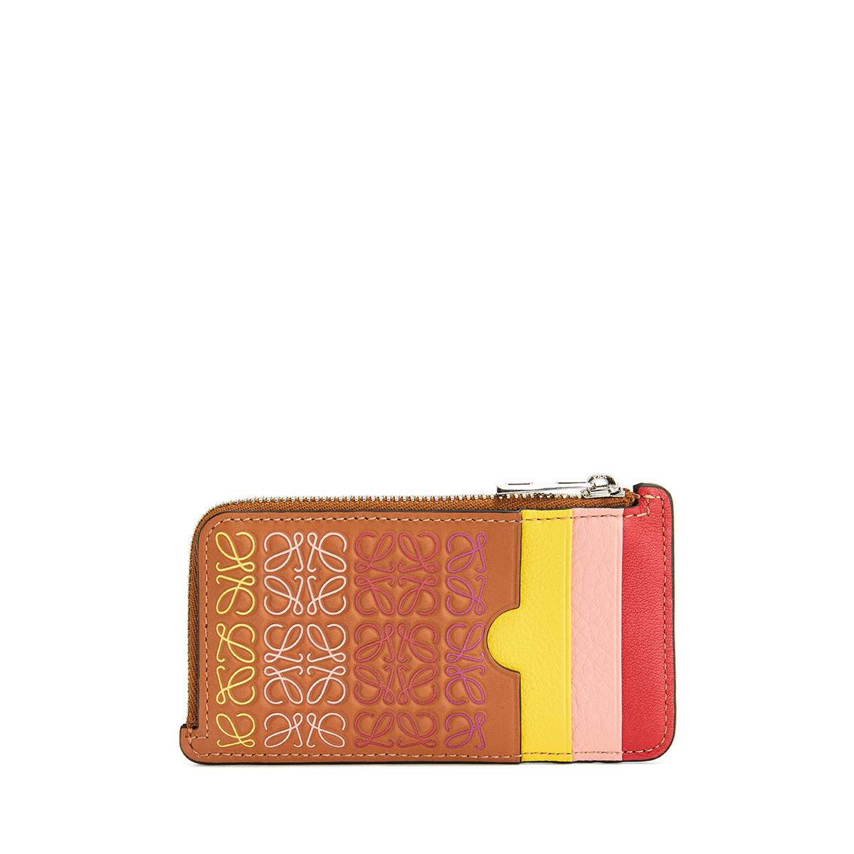 LOEWE Repeat Coin Cardholder Tan/Multicolor front