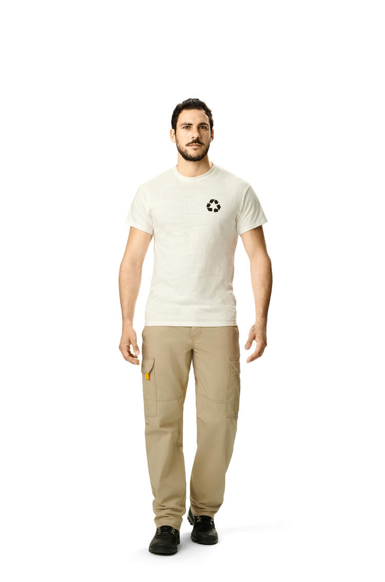 LOEWE Cargo Trousers In Cotton 米色 pdp_rd