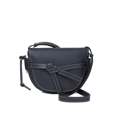 LOEWE Gate Small Bag Midnight Blue front