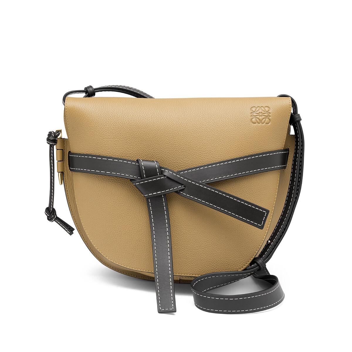 LOEWE Gate Bag Mocca/Black front