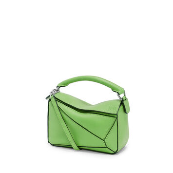 LOEWE Bolso Puzzle Mini Verde front