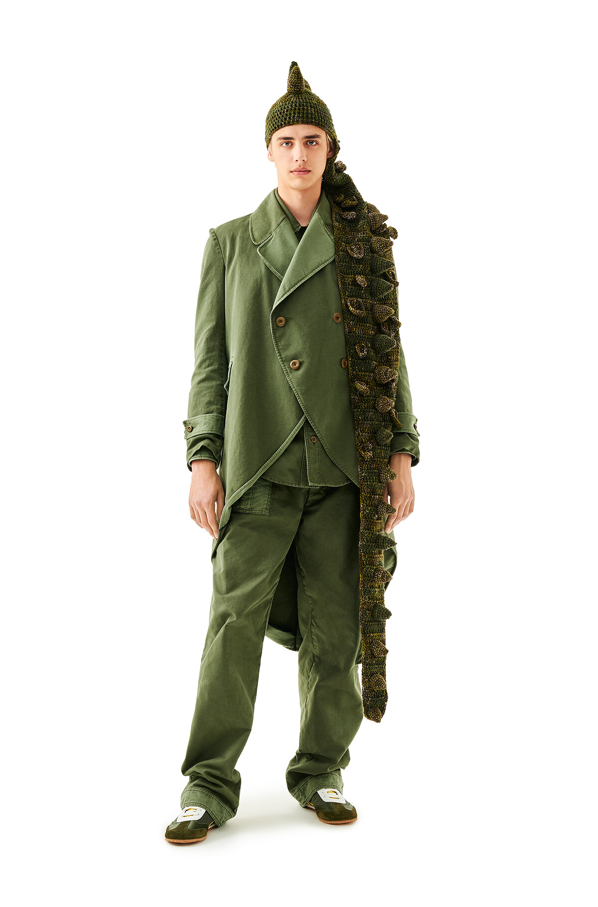 LOEWE Dragon Knit Hat Green front