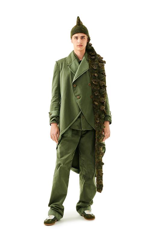 LOEWE Dragon Knit Hat グリーン front