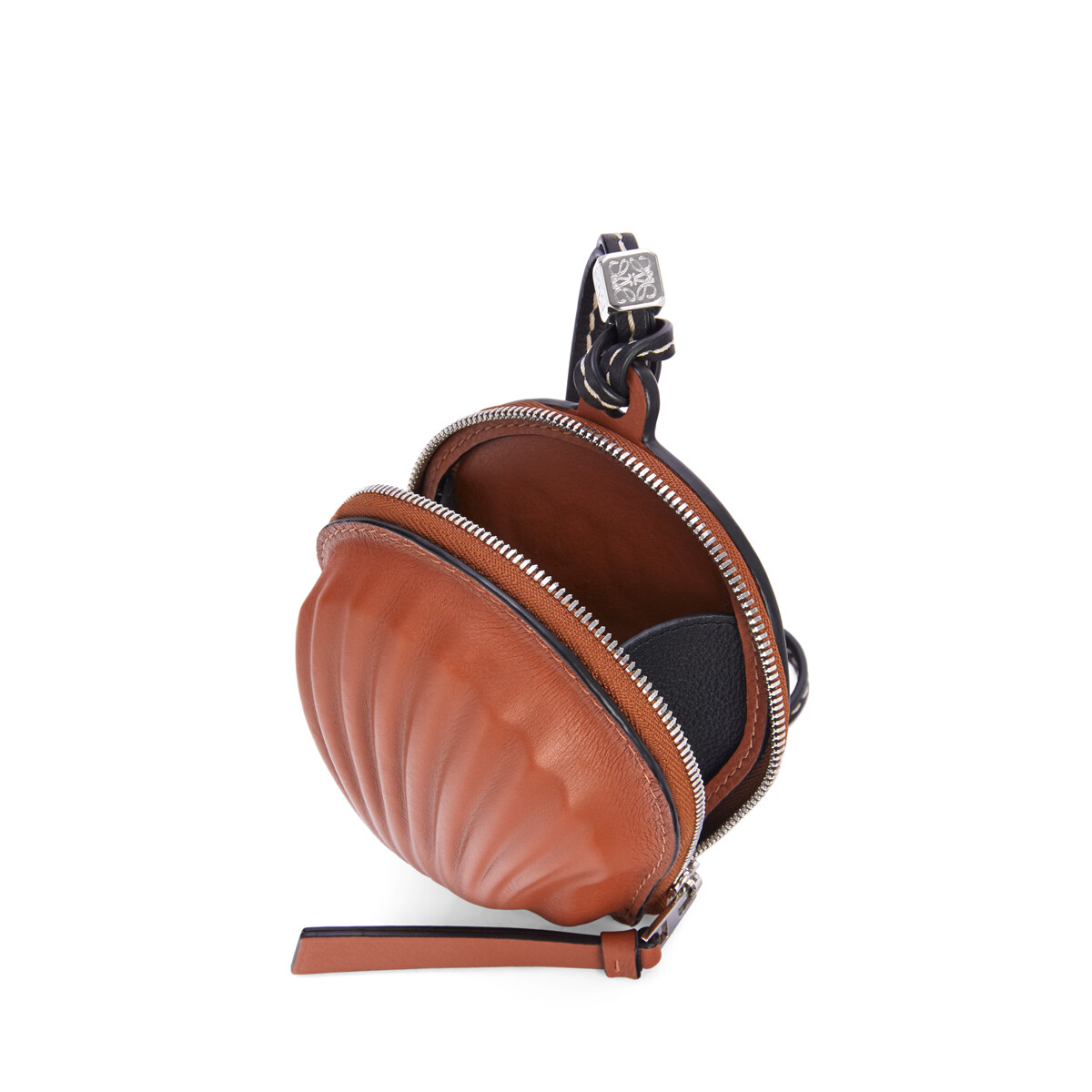 LOEWE Mini Seashell Pouch In Classic Calfskin Tan front