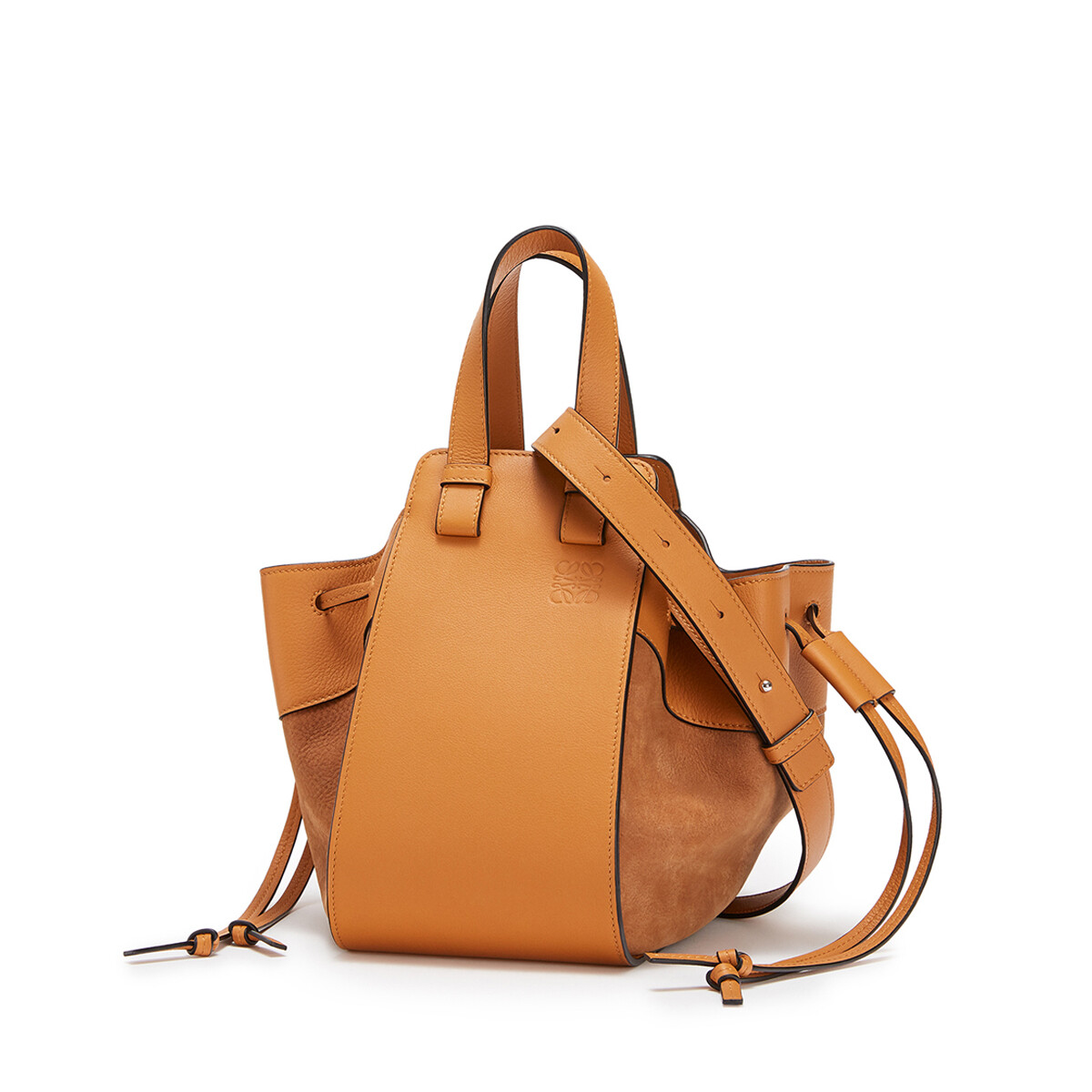 LOEWE Hammock Drawstring Small Bag Honey front