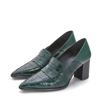 LOEWE Pointy Loafer 70 Dark Green front