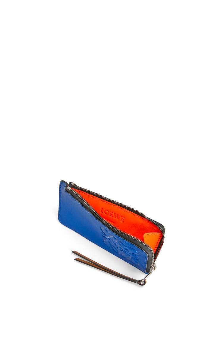 LOEWE Large coin cardholder in soft calfskin Electric Blue/Orange pdp_rd
