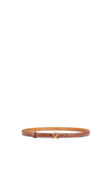 LOEWE Belt in smooth calfskin Tan/Gold pdp_rd