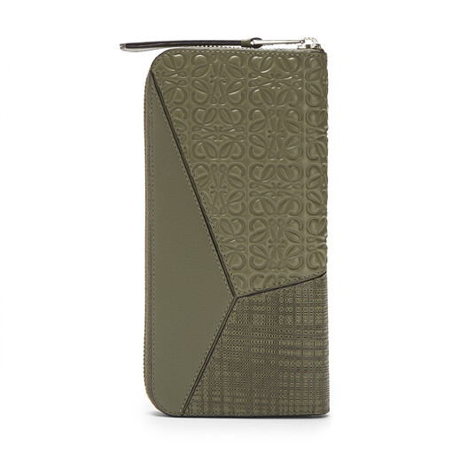 LOEWE Puzzle Open Wallet Khaki Green front