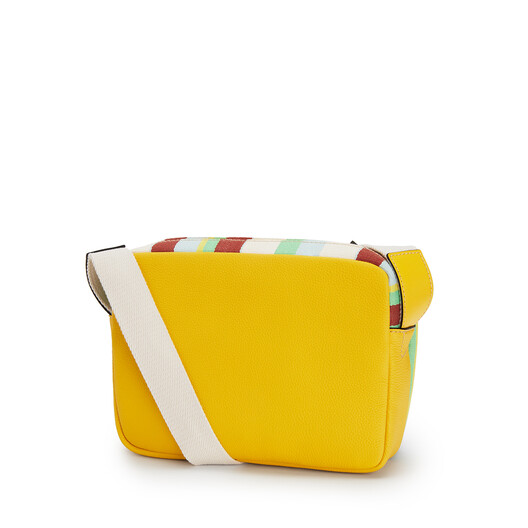 LOEWE Bolso Military Messenger Xs Ra Amarillo/Multicolor front