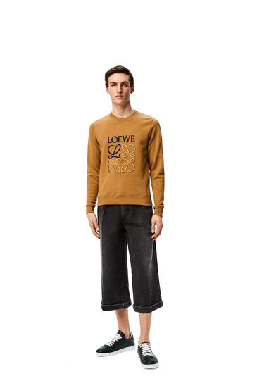 LOEWE LOEWE anagram embroidered sweatshirt in cotton Camel pdp_rd