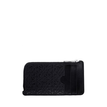 LOEWE Coin/Card Holder Black front