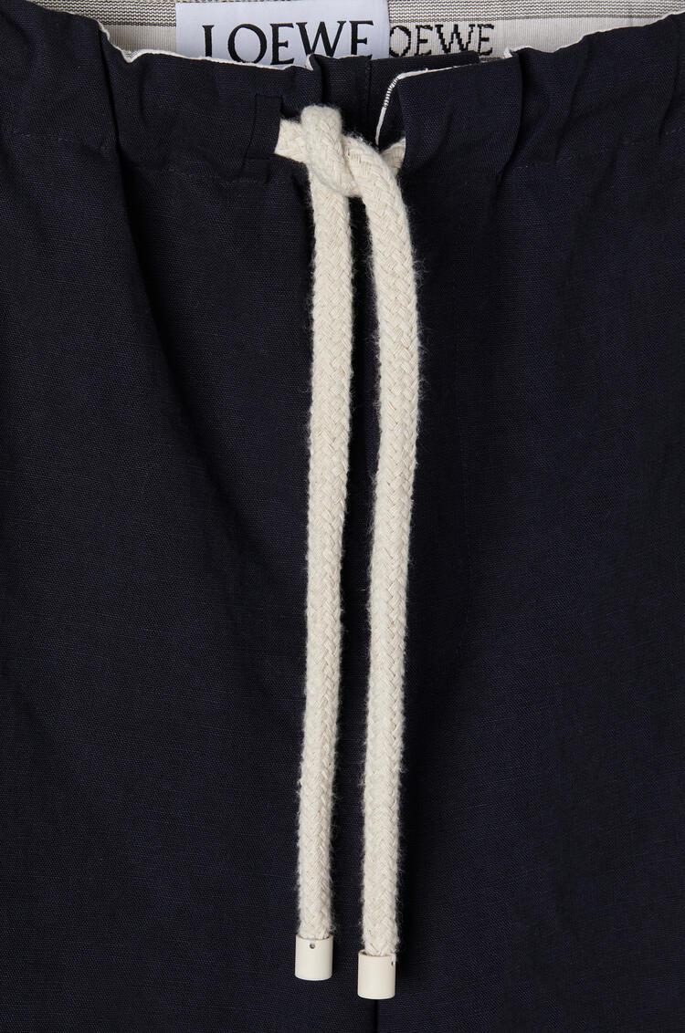 LOEWE Drawstring trousers in cotton Dark Navy Blue pdp_rd