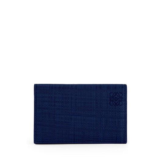 LOEWE Linen Business Cardholder Navy Blue front