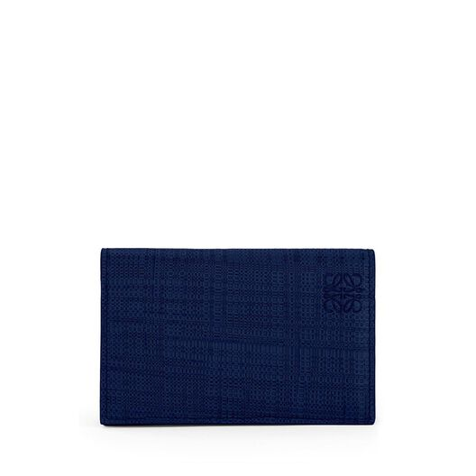 LOEWE Business Card Holder Navy Blue all