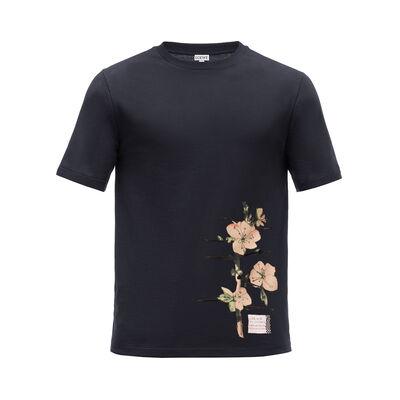 LOEWE T-Shirt Botanical 黑色 front